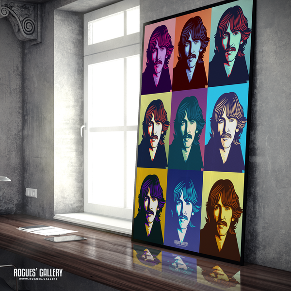 George Harrison The Beatles A0 huge large poster pop art
