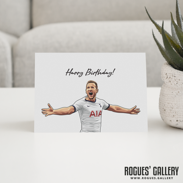 Harry Kane Harry Birthday! greeting card Spurs striker THFC England captain 3 lions roar goal