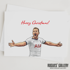 Harry Kane Harry Christmas! greeting card Spurs striker THFC England captain