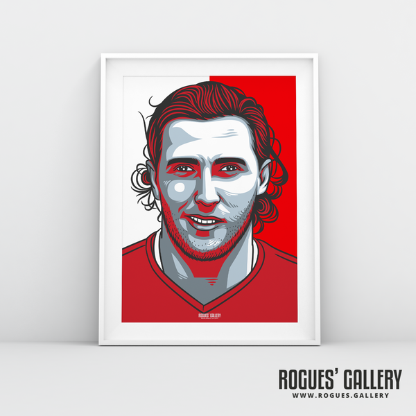 Michael Hefele centre half Nottingham Forest FC The City Ground NFFC A3 print