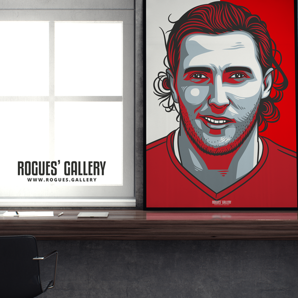 Michael Hefele centre half Nottingham Forest FC The City Ground NFFC A1 print
