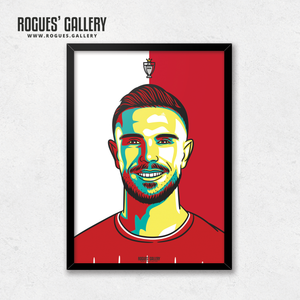 Jordan Henderson midfielder Liverpool FC Anfield Art print A3 Champions Limited Edition