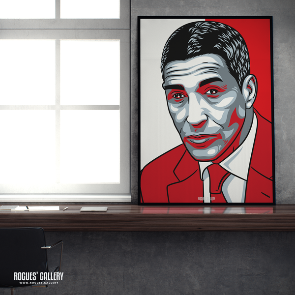 Chris Hughton manager Nottingham Forest FC The City Ground NFFC poster