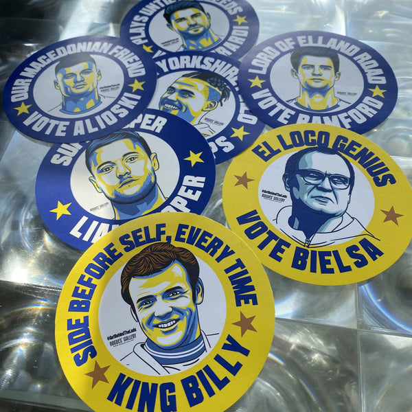 Leeds United Campaign Stickers #GetBehindTheLads