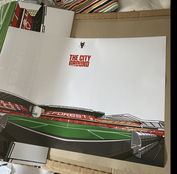 The City Ground Nottingham A1 Panorama print