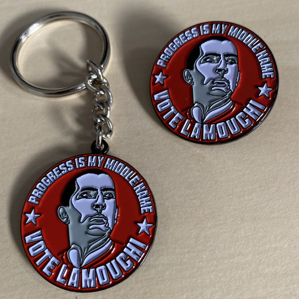 Nottingham Forest Manager Sabri Lamouchi French boss pin key ring Vote