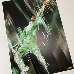 Jordan Smith That save signed rare A3 print Nottingham Forest goalkeeper