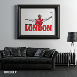 Ian Wright Arsenal Highbury The Emirates Stadium Welcome To London goal A1 art print superb