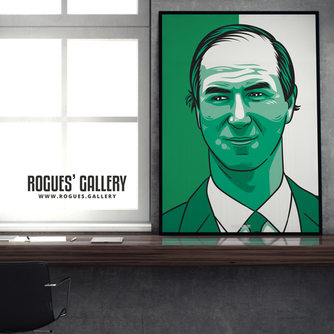 Big Jack Jackie Charlton Republic of Ireland Manager A1 print edit football boss RIP legend