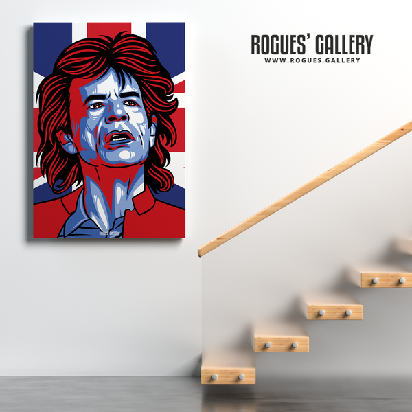 Mick Jagger Rolling Stones vocalist A1 print art modern singer icon cricket