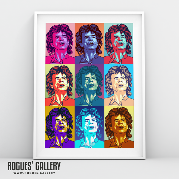 Mick Jagger Rolling Stones songs rock roll vocalist A3 print pop art