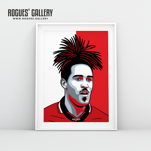 Jason Lee Nottingham Forest centre forward pineapple haircut  A3 print edit design