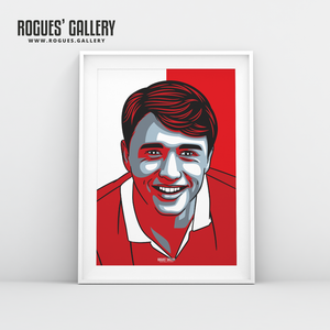 Nigel Jemson Nottingham Forest centre forward A3 print edit design