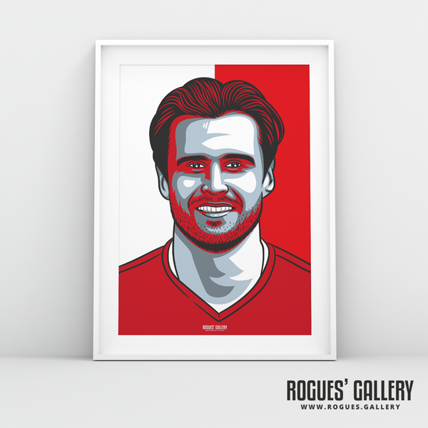 Carl Jenkinson full back Nottingham Forest FC The City Ground NFFC A3 print