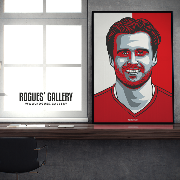Carl Jenkinson full back Nottingham Forest FC The City Ground NFFC A1 print