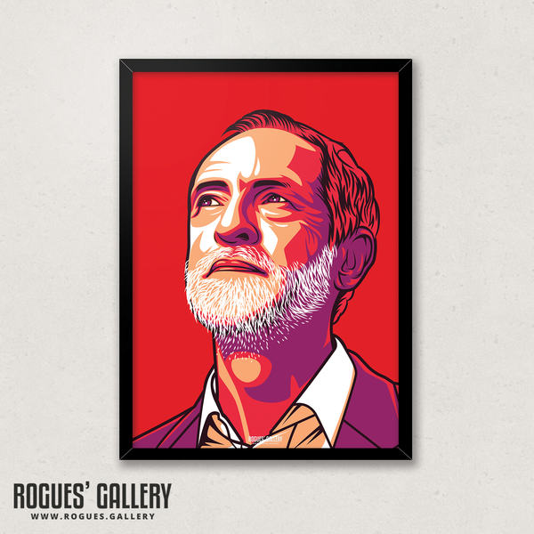 Jeremy Corbyn former Labour leader momentum jezza design edit