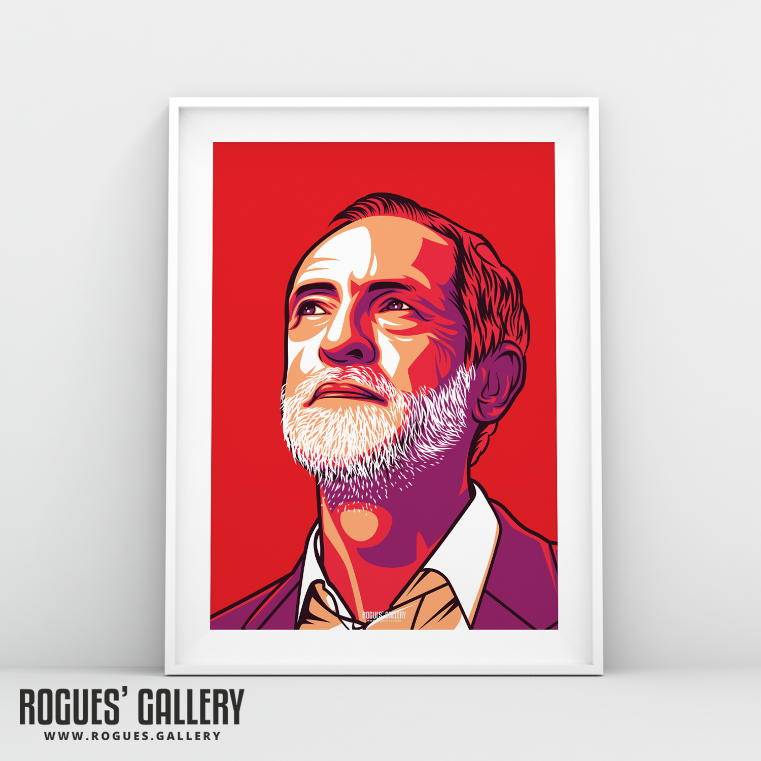 Jeremy Corbyn Labour former leader politics art A3