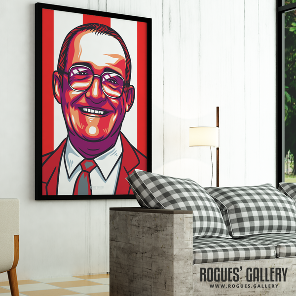 Bulleye's Jim Bowen - Darts Legend - A3, A2, A1 or A0 Print