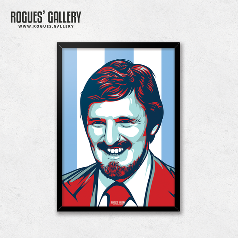 Jimmy Hill Coventry City manager chairman Match of the Day MOTD legend statue edit A3 print