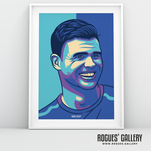 Jimmy Anderson England seam reverse swing bowler art print A3 edit Test Match