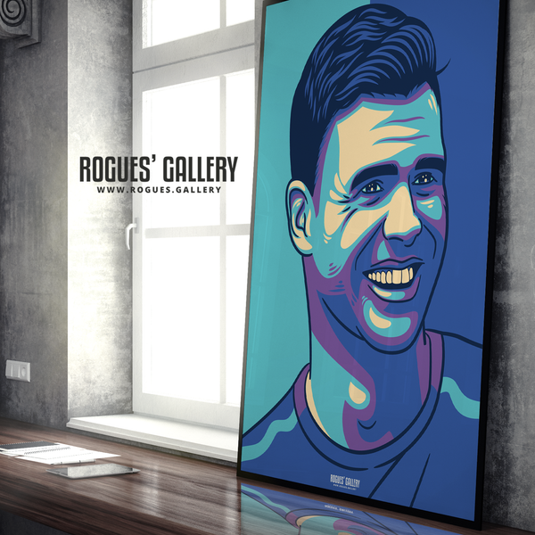 Jimmy Anderson England seam reverse swing bowler art print A0 edit Test Match 500 wickets