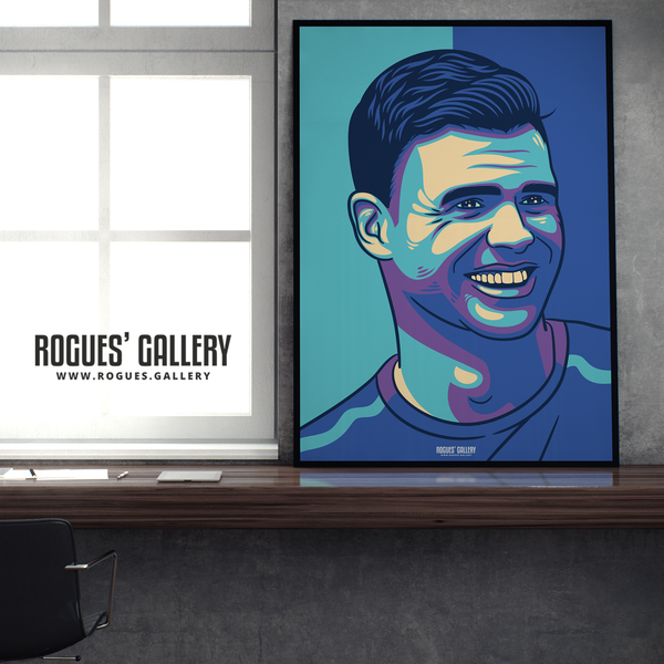 Jimmy Anderson England seam reverse swing bowler art print A1 edit Lords Legend