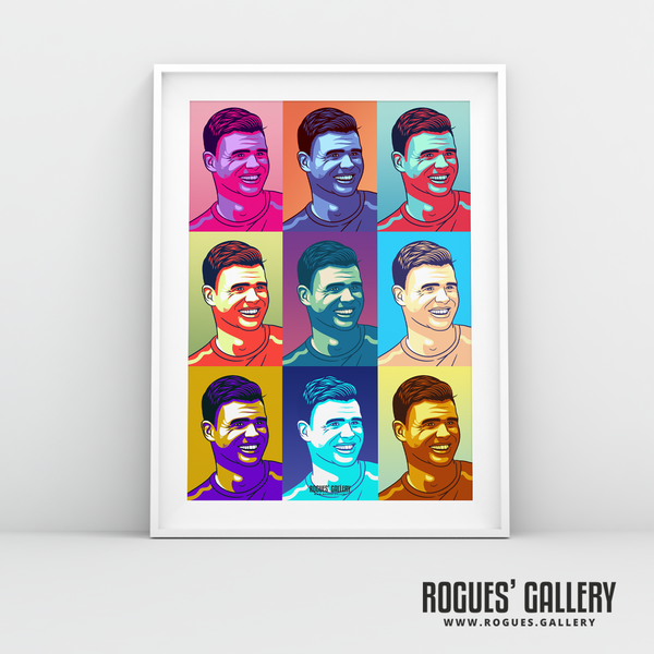 Jimmy Anderson England seam reverse swing bowler pop art print A3 edit Test Match 500 wickets