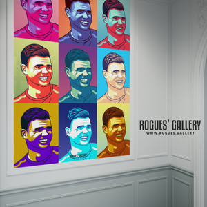 Jimmy Anderson England seam reverse swing bowler pop art print A1 edit Test Match 500 wickets