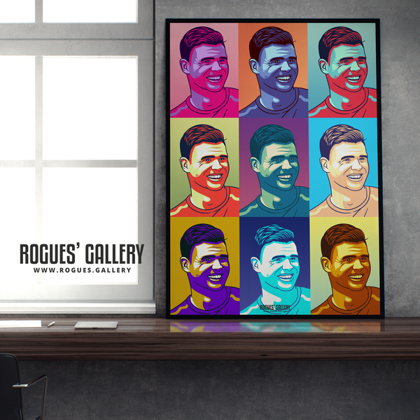 Jimmy Anderson England seam reverse swing bowler pop art print A1 edit Test Match warhol