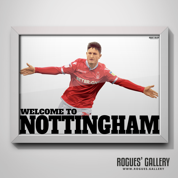 Joe Lolley Nottingham Forest Winger Welcome to Nottingham A3 goal celebration