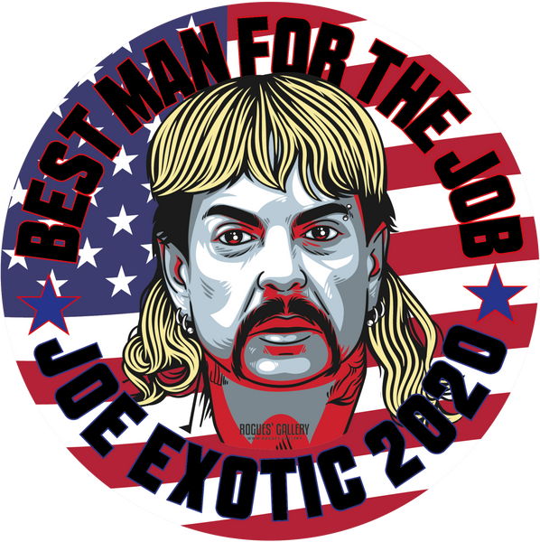 Joe Exotic The Tiger King Presidential Vote Election Political Campaign Netflix Florida Big Cats Edits beer mats Art Custom