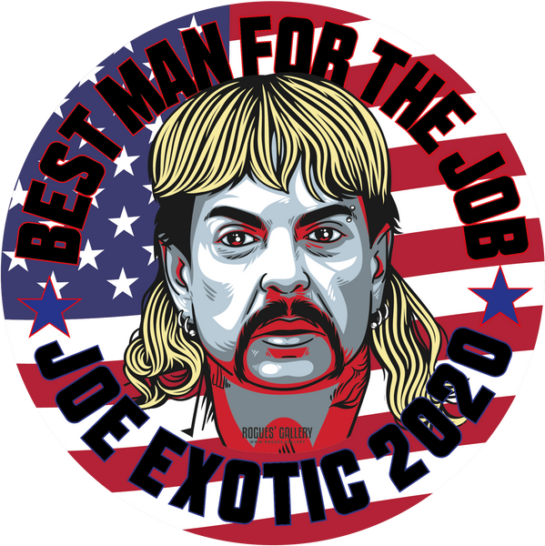 Joe Exotic The Tiger King Presidential Vote Election Political Campaign Netflix Florida Big Cats Edits Stickers Art Custom