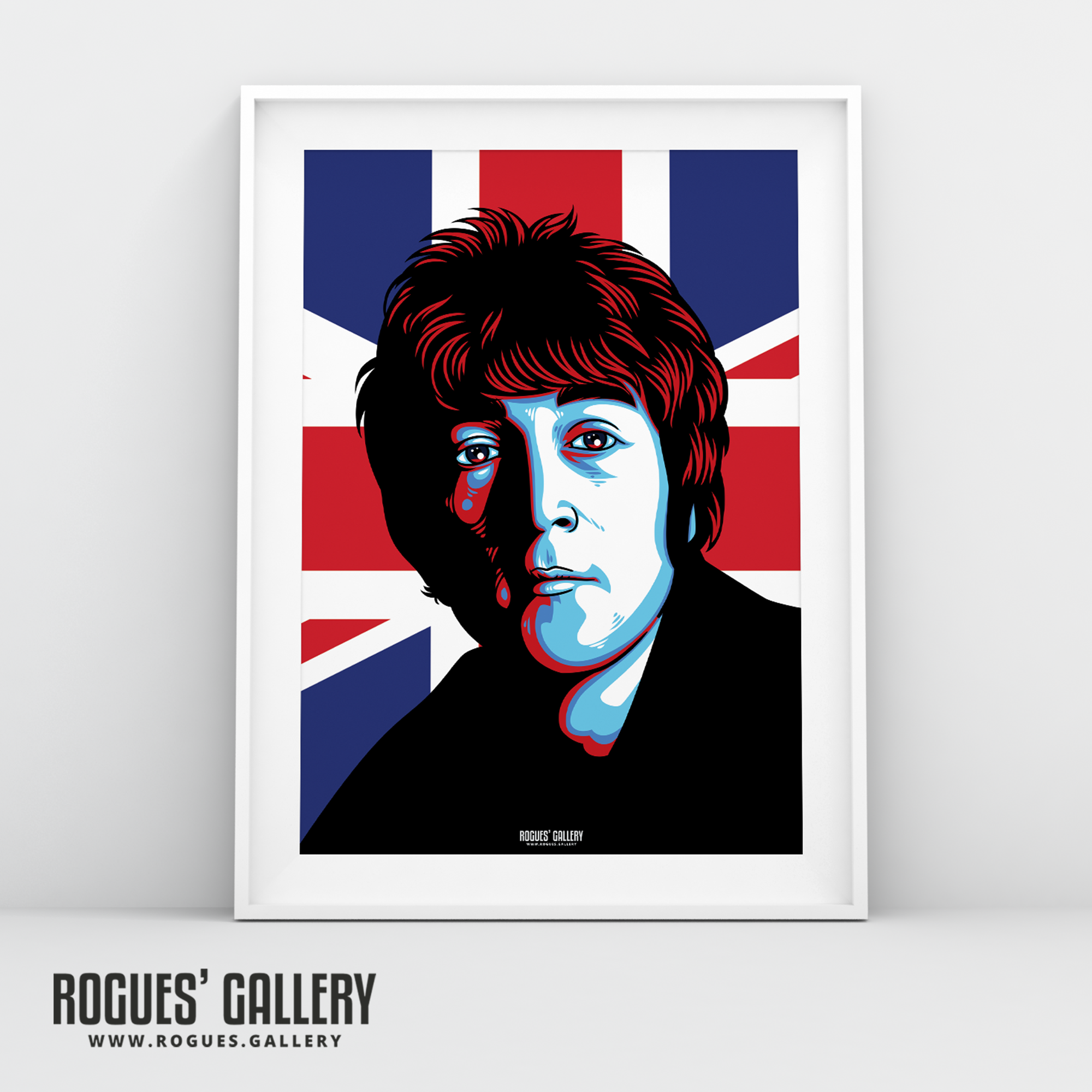 John Lennon The Beatles A3 art print union jack Liverpool