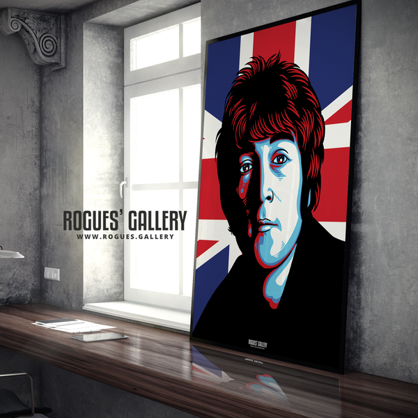 John Lennon The Beatles A1 large poster union jack Liverpool cavern club penny lane