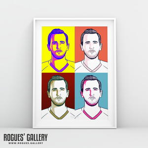 Harry Kane THFC Spurs striker captain Three Lions England striker A3 print art #GetBehindTheLads Tottenham Hotspur FC pop art A3 edit
