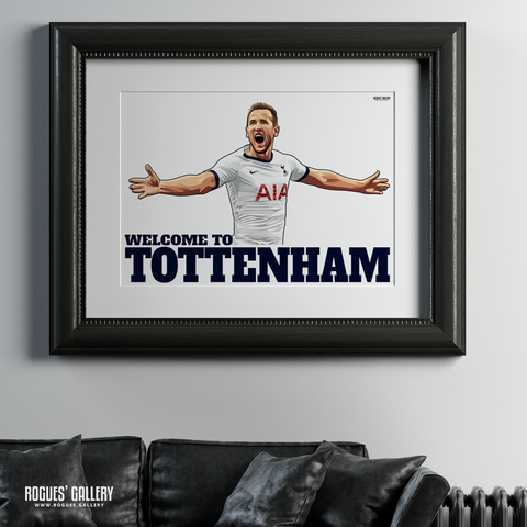 Harry Kane Spurs THFC Striker England captain Welcome To Tottenham A3 print huge poster