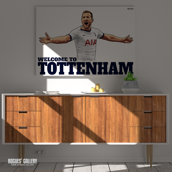 Harry Kane Spurs THFC Striker England captain Welcome To Tottenham A3 prints posters