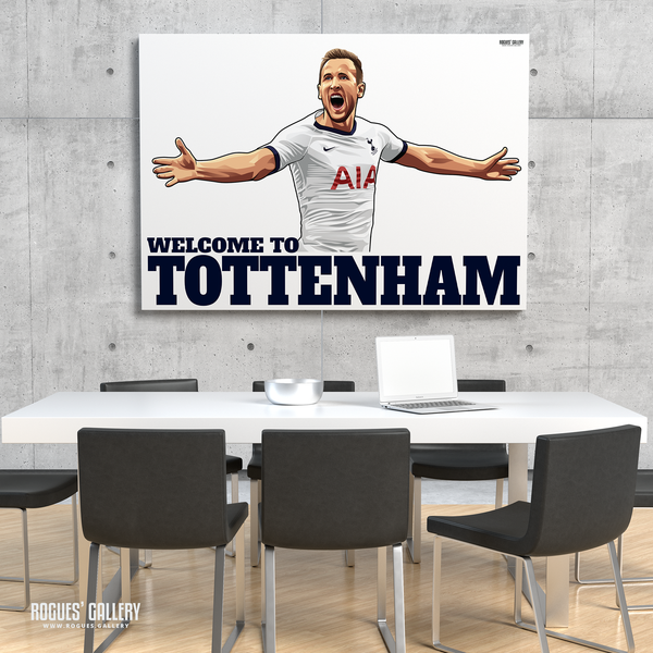 Harry Kane Spurs THFC Striker England captain Welcome To Tottenham A3 print limited edition