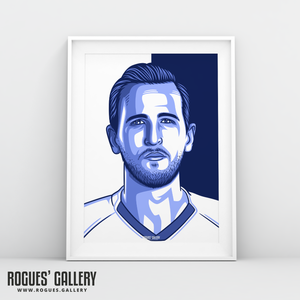 Harry Kane THFC Spurs striker captain Three Lions England striker A3 print art #GetBehindTheLads Tottenham Hotspur FC London