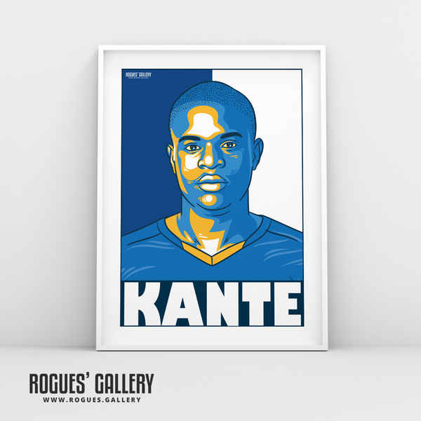 Kante defensive midfielder Leicester City LCFC Foxes Premier League Champions A3 Print