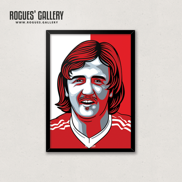 Kenny Burns Nottingham Forest NFFC centre back A3 print edits
