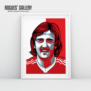 Kenny Burns Nottingham Forest centre back A3 print edit design