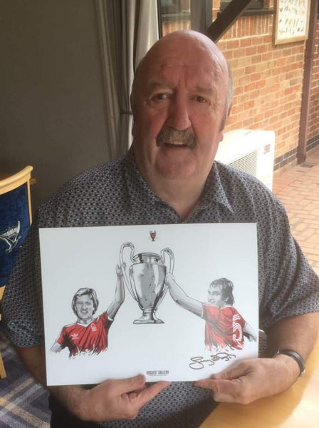 Kenny Burns Scotland signed exclusive art