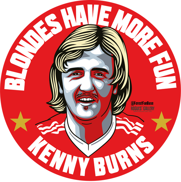 Kenny Burns Nottingham Forest defender Deluxe stickers #GetBehindTheLads
