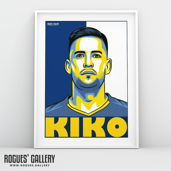Kiko Casilla Leeds United FC goalkeeper A3 art print design