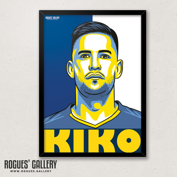 Kiko Casilla Leeds United LUFC keeper A3 art print edit