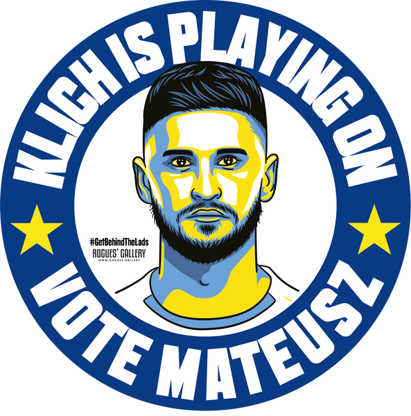 Mateusz Klich Leeds United midfielder stickers Vote #GetBehindTheLads