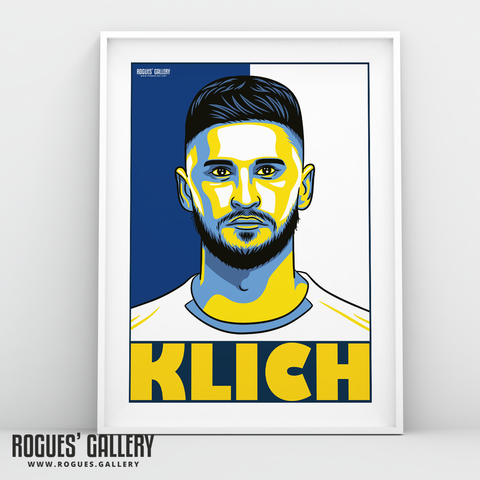 Mateusz Klich Leeds United FC midfield A3 art print design