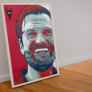 Jurgen Klopp Liverpool manager A3 print custom art design