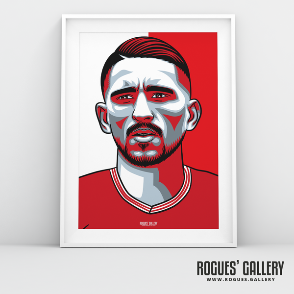 Anthony Knockaert midfielder Nottingham Forest FC The City Ground NFFC A3 print